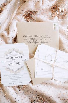 Striped southern wedding invitations | Photography: Hunter Ryan Photo - hunterryanphoto.com | Invitations by Minted  Read More: http://www.stylemepretty.com/southeast-weddings/2014/04/28/romantic-southern-affair-in-fort-myers/