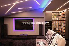 Σχέδια οροφής με φωτισμό σε οικία στην Παλλήνη. Flat Screen, Electronics, Blood Plasma, Flatscreen, Dish Display, Consumer Electronics