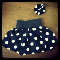 Polka dot infant skirt with matching hairbow by Skirtsey $15 Kid Baby Children Clothing Black White Pin up Rockabilly Fashion