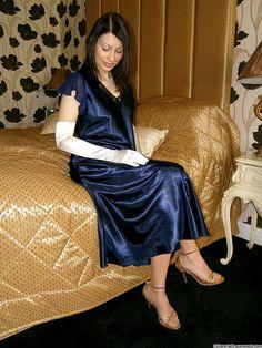 Satin Nightie, Satin Skirt, Satin Dresses, Lace Kimono, Satin Blouses, Cute Girl Outfits, Pretty Lingerie, Silk Satin, Night Gown
