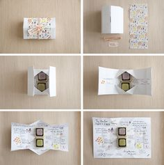 l box was designed, illustrated, scored, folded and bound with our bare hands. Prett