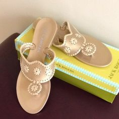 9283e1aa588 Jack Rogers Bahamas Navajo Jelly Gold Sandals  53 Jelly Sandals