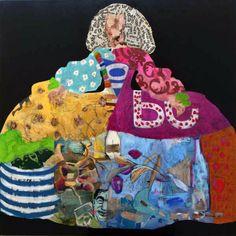 Carmen Casanova. Menina nº 90 Sculpture, Christmas Ornaments, Holiday Decor, Image, Google, Portraits, Hipster Baby Girls, Enamels, Colorful Paintings