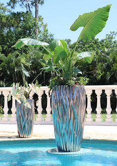VP337-338 Wisteria Planter House Plants Decor, Plant Decor, Flower Pots, Flowers, Wisteria, Glass Vase, Planters, Container, Pottery