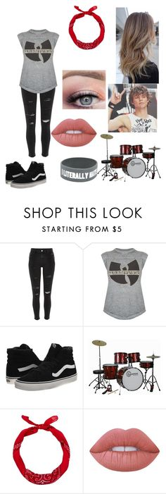 """""""ashton irwin//female set"""" by erza-2001-scarlet ❤ liked on Polyvore featuring River Island, Trunk LTD, Vans, New Look and Lime Crime"""