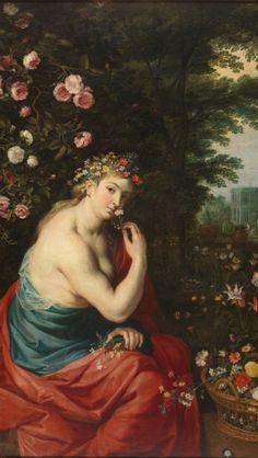 The Goddess Flora, Greek Mythology Tattoos, Greek Mythology Art, Roman Mythology, Classical Mythology, Peter Paul Rubens, Baroque Painting, Woman Painting, Renaissance Paintings, Renaissance Art