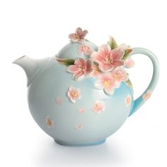 """Cherry Blossom Porcelain Teapot"" Designer ~Franz~ 