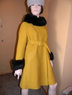 1960s Couture Ladies Dress Coat by  MILTONS by Thebaroqueprincess, $295.00