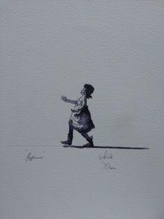 """ - by Darren Aiken Line wash on paper A3, Inventions, Miniatures, Concept, Watercolor, Sculpture, Paper, World, Artwork"