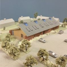 1:200 scale model for a new science block at a school.