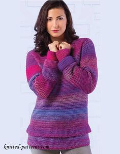 Women's pullover crochet pattern free