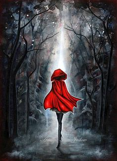 Little Red Riding Hood  Dark Fairytale  85 x 11 by annya127, $18.50