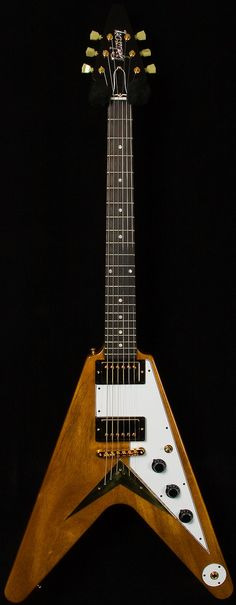 Gibson Custom Shop '59 Flying V - Antique Natural - Shared by The Lewis Hamilton Band -   https://www.facebook.com/lewishamiltonband/app_2405167945  -  www.lewishamiltonmusic.com   http://www.reverbnation.com/lewishamiltonmusic  -