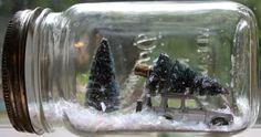 Poppytalk Weekend Project: Winter Scene Mason Jars
