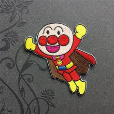 Anpanman Patch Full Embroidered Patch Iron-On Patches sew on patches Cartoon patch
