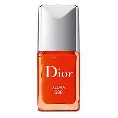 red orange #nailpolish #summer
