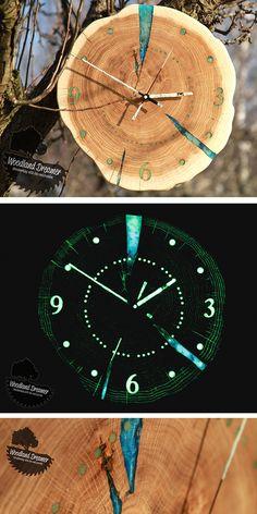 Clock, Giant Wall Clock, Design Wall Clock, Wooden Wall Clock, Glow in the Dark Clock, Unusual Wall Clocks, Personalized Wall Clocks, Unique