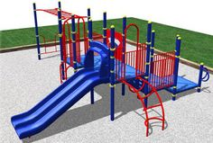 Commercial Outdoor Playground - great for a church, daycare or school.