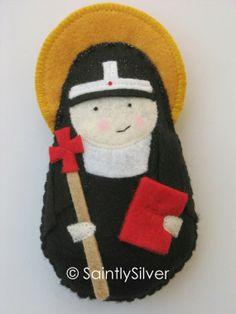 Saint Bridget of Sweden Felt Saint Softie