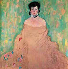 Klimt, Gustav Portrait of Amalie Zuckerkandl (unfinished), Gustav Klimt, Klimt Art, William Turner, Franz Josef I, Art Nouveau, Background Drawing, Background Ideas, Vienna Secession, Abstract Portrait