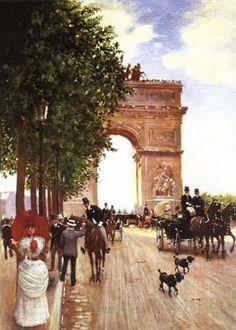 Arc De Triomphe, Champ-Elysees, Paris Jean-Georges Béraud (1882-1886)