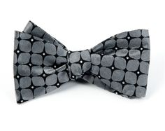THE BOUTONNIERE BOW TIES - CHARCOAL | Ties, Bow Ties, and Pocket Squares | The Tie Bar