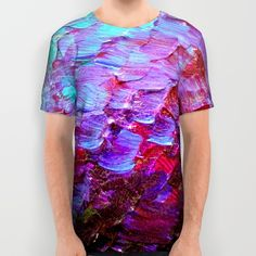 """Mermaid Scales"" by Ebi Emporium on #Society6, Fine Art All Over print Tshirt Abstract Acrylic Painting Modern Decorative Eggplant Dark Purple Violet Turquoise Ombre, #fineart #ombre #art #purple #purple #mermaid #colorful #abstractpainting #EbiEmporium #JuliaDiSano #tshirt #fashion #alloverprint #shirt #style #stylish"