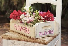 Cottage style-flower crate , beautiful