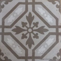 Dove grey antique ceramic French tiles - The Antique Floor Company