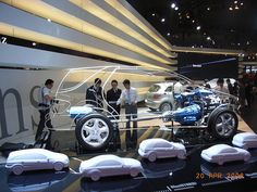 large interactive polygon installation car for mercedes-benz roadshows