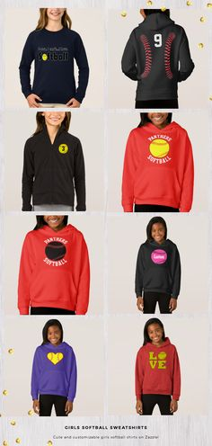 ed64fcdd0300 16 Best Softball Sweatshirts images