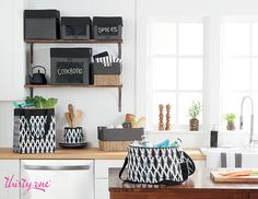 There's room for sugar and spice and everything nice in a well-organized kitchen. #ThirtyOneGifts #ThirtyOne #JewellByThirtyOne #JKbyThirtyOne  #Monogramming #Organization