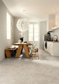 New kitchen floor Kitchen Interior, House Design, Kitchen Flooring, Interior, Interior Inspiration, Home, House Interior, Home Kitchens, Residential Flooring