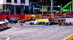 formula 1 crash in japan today