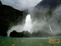 Waterfall at bad wea