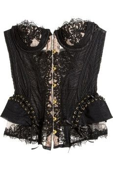 Agent Provocateur | Raphaella lace and tulle corset | NET-A-PORTER.COM - StyleSays