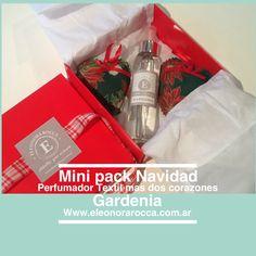 El pack de navidad incluye un perfumador textil de 125 cc y dos corazones perfumados                                  Www.eleonorarocca.com.ar