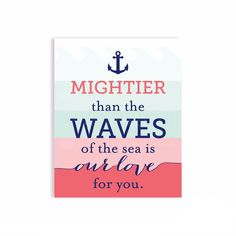 Mightier than the waves, Print for Nursery | PaperRamma