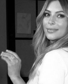 Kim showing off her ring