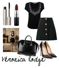 """#style veronica lodge"" by anais8100 on Polyvore featuring mode, Alexander Wang, Miu Miu, Christian Louboutin, MAC Cosmetics, Ilia et Givenchy"