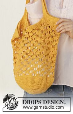 37 Ideas crochet bag pattern free tote drops design for 2019 Bag Pattern Free, Bag Patterns To Sew, Sewing Patterns Free, Crochet Patterns, Crochet Design, Drops Design, Free Crochet Bag, Filet Crochet, Crochet Double