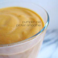 Pumpkin Pie Protein Smoothie - Bubble Girl Bakes Blog - BGBakes