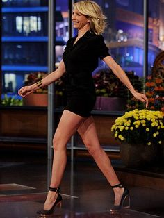 Cameron Diaz wore an extremely little black dress for an appearance on The Tonight Show With Jay Leno last night. In addition to her mini and Lanvin shoes, Cameron Diaz Legs, Cameron Diaz Style, Camron Diaz, Lanvin, Beautiful Legs, Beautiful Women, Beautiful People, Princess Fiona, Sexy Legs And Heels