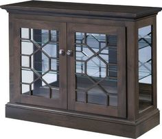 Amish Ventana Curio Cabinet Enjoy a contemporary style curio cabinet made your way. The Ventana is customizable. Choose wood and stain for this beauty made in Amish country. #curiocabinet Family Room Furniture, Wood Furniture, New Cabinet, Cabinet Doors, Curio Cabinets, Quarter Sawn White Oak, White Oak Wood, Solid Wood Cabinets, Cabinet Making