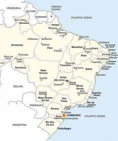 Playas de Brasil: Mapas de Camboriú