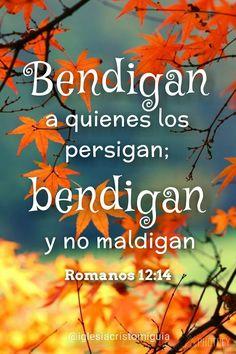 Bendigan a quienes los persigan; bendigan y no maldigan. Romanos 12:14