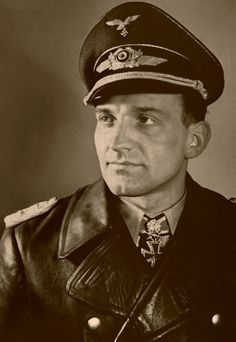 Hans-Ulrich Rudel, the highest-decorated member of the German armed forces in World War II.