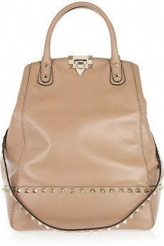 1a708d9a28f Valentino Rockstud New Dome leather bucket tote