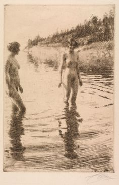 Anders Zorn, Shallow, 1913    (thanks to http://www.cavetocanvas.com/page/3)