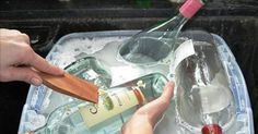 DIY recycled glass bottles Don't throw them out. There are tons of ways you can reuse a glass bottle. Recycled Glass Bottles, Empty Bottles, Altered Bottles, Bottles And Jars, Recycle Bottles, Recycled Jars, Wine Bottle Art, Wine Bottle Crafts, Alcohol Bottle Crafts